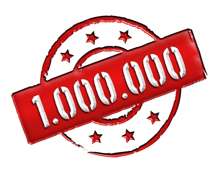etikett: Sign and stamp for your presentation, for websites and many more named 1 000 000
