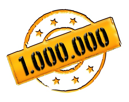 Sign and stamp for your presentation, for websites and many more named 1 000 000