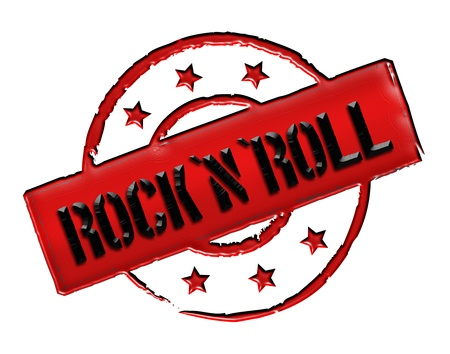 Sign and stamp for your presentation, for websites and many more named RocknRoll