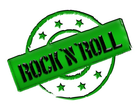 musik: Sign and stamp for your presentation, for websites and many more named RocknRoll
