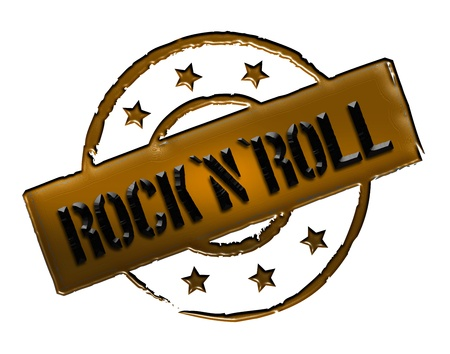 Sign and stamp for your presentation, for websites and many more named RocknRoll photo