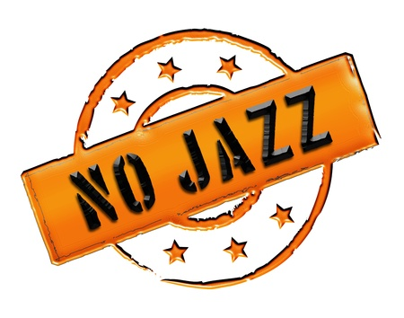 Sign and stamp for your presentation, for websites and many more named No Jazz photo