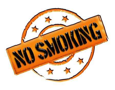 Sign and stamp for your presentation, for websites and many more named No Smoking