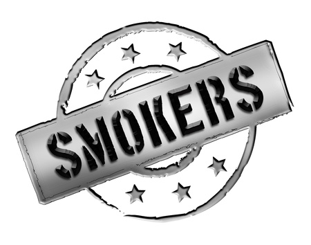 Sign and stamp for your presentation, for websites and many more named Smoker photo