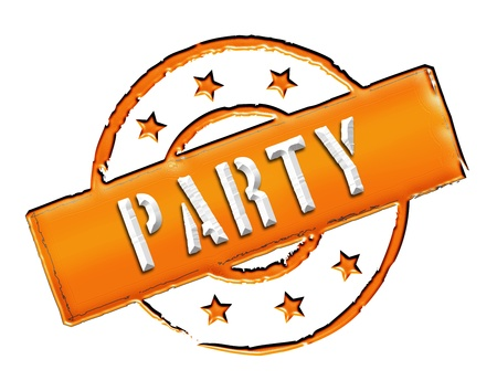 samstag: Sign and stamp for your presentation, for websites and many more named PARTY