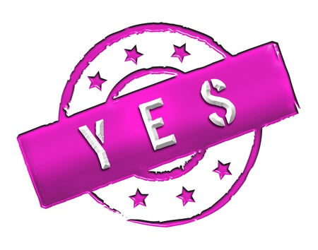 etikett: Sign and stamp for your presentation, for websites and many more named YES