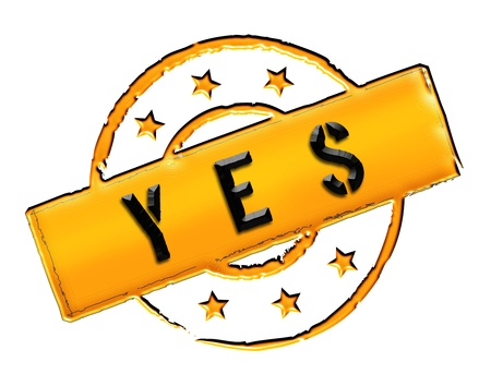 achtung: Sign and stamp for your presentation, for websites and many more named YES