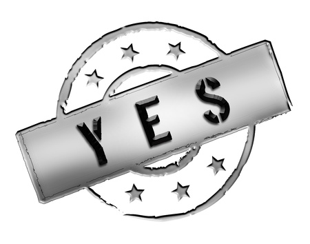 positiv: Sign and stamp for your presentation, for websites and many more named YES