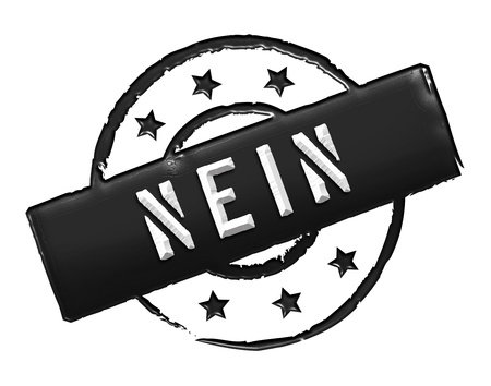 stempel: Sign and stamp for your presentation, for websites and many more named NEIN Stock Photo