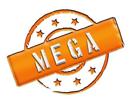etikett: Sign and stamp for your presentation, for websites and many more named MEGA