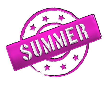 etikett: Sign and stamp for your presentation, for websites and many more named SUMMER