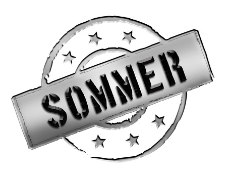 etikett: Sign and stamp for your presentation, for websites and many more named SOMMER
