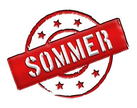 frhling: Sign and stamp for your presentation, for websites and many more named SOMMER