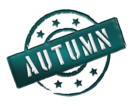 wichtig: Sign and stamp for your presentation, for websites and many more named AUTUMN Stock Photo