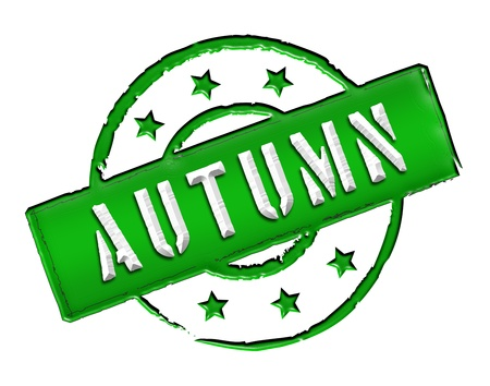etikett: Sign and stamp for your presentation, for websites and many more named AUTUMN Stock Photo