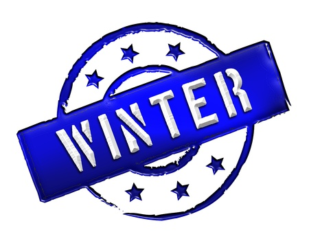 Sign and stamp for your presentation, for websites and many more named WINTER