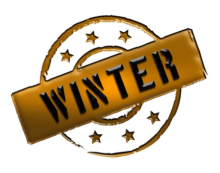 etikett: Sign and stamp for your presentation, for websites and many more named WINTER