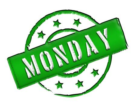 sonntag: Signo, s�mbolo, sello o un icono para su presentaci�n, para los sitios web y muchos m�s llamado Lunes Foto de archivo