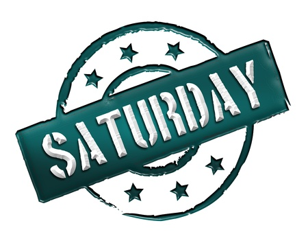 Sign, symbol, stamp or icon for your presentation, for websites and many more named SATURDAY photo