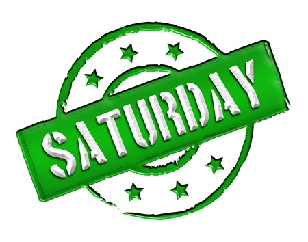 sonntag: Sign, symbol, stamp or icon for your presentation, for websites and many more named SATURDAY