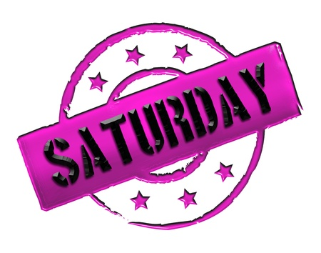 samstag: Sign, symbol, stamp or icon for your presentation, for websites and many more named SATURDAY