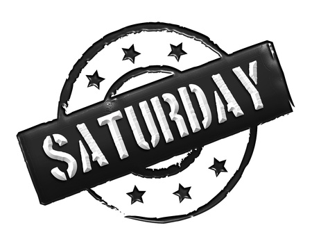 Sign, symbol, stamp or icon for your presentation, for websites and many more named SATURDAY Stock Photo - 13778246