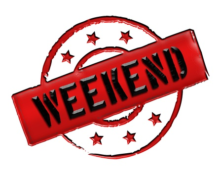 arbeit: Sign, symbol, stamp or icon for your presentation, for websites and many more named WEEKEND