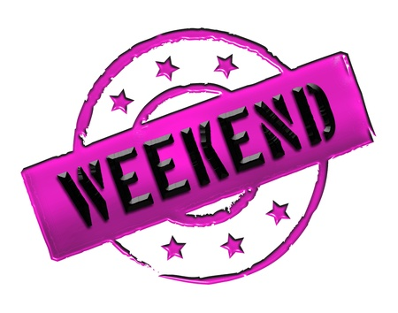 Sign, symbol, stamp or icon for your presentation, for websites and many more named WEEKEND