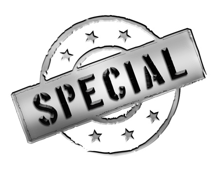Sign, symbol, stamp or icon for your presentation, for websites and many more named SPECIAL