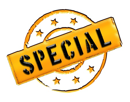 etikett: Sign, symbol, stamp or icon for your presentation, for websites and many more named SPECIAL