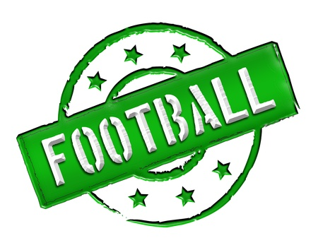 etikett: Sign, symbol, stamp or icon for your presentation, for websites and many more named FOOTBALL Stock Photo