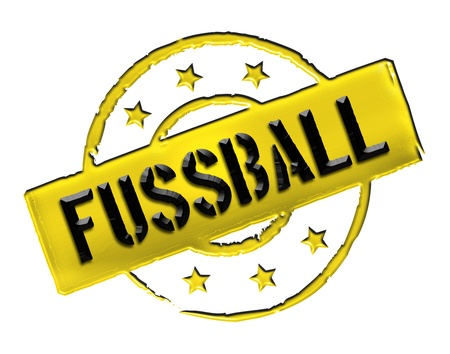 wichtig: Sign, symbol, stamp or icon for your presentation, for websites and many more named FUSSBALL Stock Photo