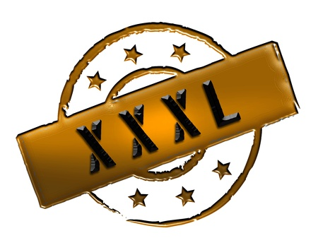 stempel: Sign, symbol, stamp or icon for your presentation, for websites and many more named XXXL
