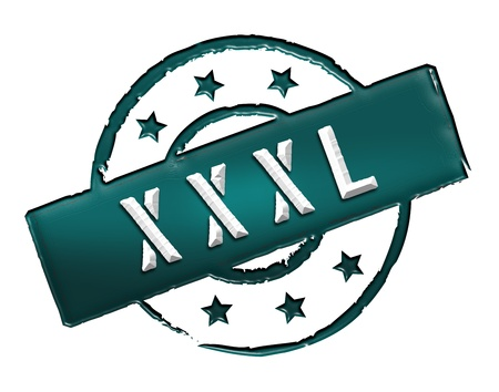 etikett: Sign, symbol, stamp or icon for your presentation, for websites and many more named XXXL