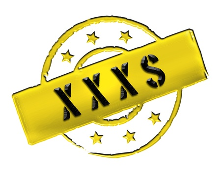 etikett: Sign, symbol, stamp or icon for your presentation, for websites and many more named XXXS