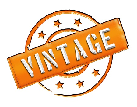 Sign, symbol, stamp or icon for your presentation, for websites and many more named VINTAGE Stock Photo