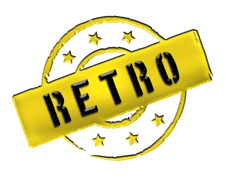 etikett: Sign, symbol, stamp or icon for your presentation, for websites and many more named RETRO