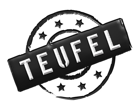 etikett: Sign, symbol, stamp or icon for your presentation, for websites and many more named TEUFEL
