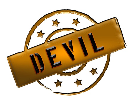 Sign, symbol, stamp or icon for your presentation, for websites and many more named DEVIL Stock Photo - 13802407