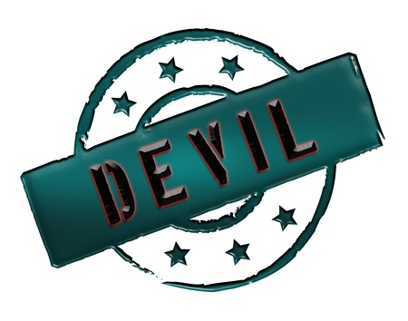 Sign, symbol, stamp or icon for your presentation, for websites and many more named DEVIL Stock Photo - 13802308