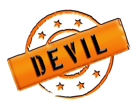 stempel: Sign, symbol, stamp or icon for your presentation, for websites and many more named DEVIL Stock Photo