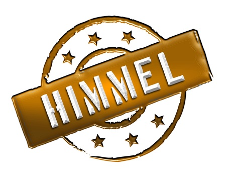 etikett: Sign, symbol, stamp or icon for your presentation, for websites and many more named HIMMEL