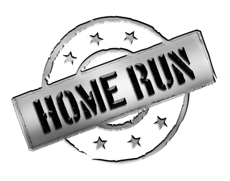 home run: Sign, symbol, stamp or icon for your presentation, for websites and many more named HOME RUN Stock Photo