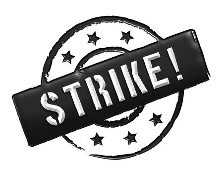 wichtig: Sign, symbol, stamp or icon for your presentation, for websites and many more named STRIKE!