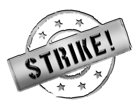 Sign, symbol, stamp or icon for your presentation, for websites and many more named STRIKE! photo