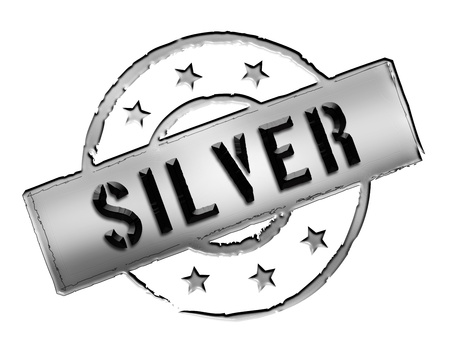 Sign, symbol, stamp or icon for your presentation, for websites and many more named Silver