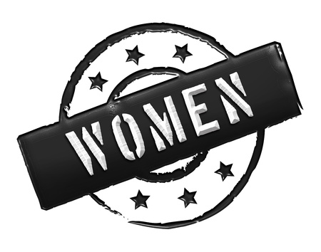 Sign, symbol, stamp or icon for your presentation, for websites and many more named WOMEN