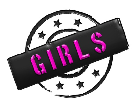 etikett: Sign, symbol, stamp or icon for your presentation, for websites and many more named GIRLS