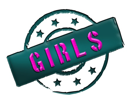 Sign, symbol, stamp or icon for your presentation, for websites and many more named GIRLS Stock Photo - 13845635
