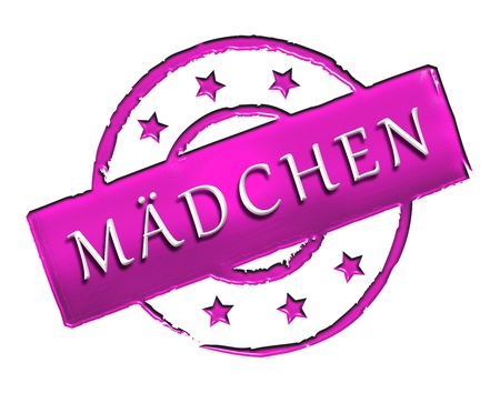 stempel: Sign, symbol, stamp or icon for your presentation, for websites and many more named mädchen